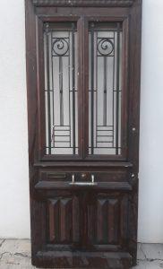 Meuble Ancien Porte d'Entrée 1900 Chêne